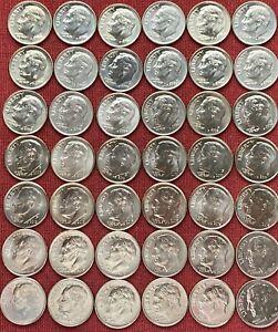 Roosevelt Dime Set 2000 - 2021 P/ D BU Complete Set Of 44 BU Dimes