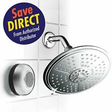 """Cool-Shower Ultra-Luxury 7-setting 7"""" Rainfall Shower Head with Matching Chrome"""