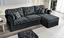 Luxus Ecksofa Treviso Bettkasten Polster Stoff  Klassische Stil Möbel aus Italy