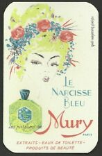 Le Narcisse Bleu Parfums Mury Paris ancienne carte parfumée
