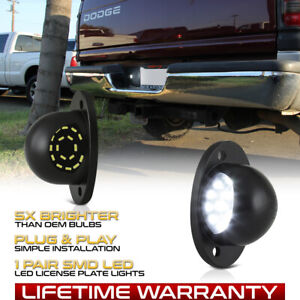 "1994-2001 Dodge RAM 1500 2500 3500 ""FULL LED"" License Plate Light Lens Lamp Pair"