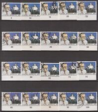 """1987 """"Theatre"""" Issue 100dr stamps with 20 different c.n. on bottom selvedge.RRRR"""