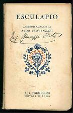 PROVENZANI ALDO ESCULAPIO ANEDDOTI FORMIGGINI 1929 ANEDDOTICA IV