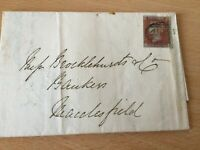 GB UK Victoria penny red square entire within Macclesfield 8.7.1849