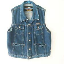 Vintage Harley Davidson Denim Jean Vest, Jacket Men's Size XL - Made in USA