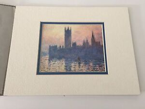 The Houses of Parliament, Sunset Lithograph Print, Monet, National Gallery Art