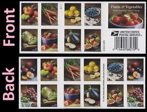 US 5484-5493 5493b Fruits & Vegetables forever booklet (20 stamps) MNH 2020