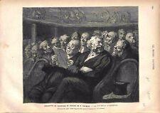 Exposition Peinture Dessin Honoré Daumier Les fauteuils d'orchestre GRAVURE 1878