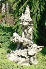 Gnom It´s a boy Elfe Drache Steinfigur Gartendekoration Skulptur Vidroflor