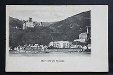 Carte postale ancienne ALLEMAGNE Stolzenfels und Capellen