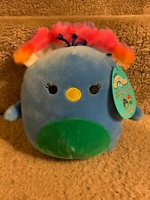 """Squishmallow 7"""" Rainbow Peacock Mexican Squad"""