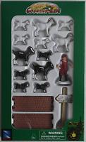 NewRay Country Life Set - 12 Ziegen weiß & schwarz + Zub. 1:32 Neu/OVP Bauernhof