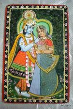 vintage art Rada krishana painting on marbal from rajasthan india hindu