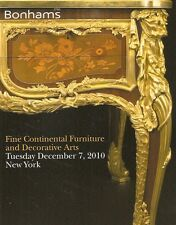 Bonhams Fine Continental Furniture Antiques & Decorative Arts Dec. 2010