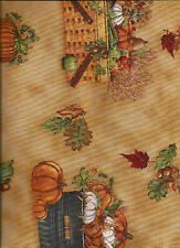 New Autumn Harvest Baskets 100% cotton fabric by the 1/2 yard