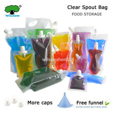 20 PCS Clear Spout Bag Liquid Pack Water Drinking Pouches Stand Up Spout Pouch