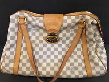Pre-Owned Louis Vuitton LV Damier Azur Stresa MM Medium Shoulder Bag Discontinue
