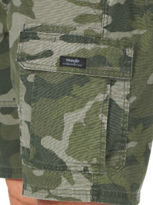 Men's Wrangler Camo Flex Cargo Shorts Relaxed Fit w/ Tech Pocket ALL SIZES 34-54