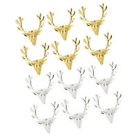 6pcs Napkin Rings Alloy Reindeer Head Durable Napkin Holder for Banquet Gold