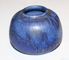 Keramik-Vase signiert Gerd & Lu Grove Lübeck Studiokeramik blau 1962