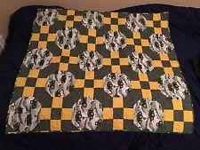 Custom Made baby quilt John Deere green yellow pattern 37 X 37 in New
