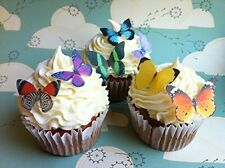 Edible Butterflies Small Assorted 24 pcs Cake and Cupcake Toppers Decoration