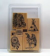 "Stampin' Up! ""DREAM CATCHER"" Extremely Desirable Set of 6 RETIRED Teepee EUC"
