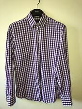 "Mens Large Giordano Shirt Designer Floral Inner Tailored 42"" 100% Cotton"