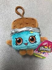 "Brand New 4"" Shopkins Plush Hanger Keychain Backpack Clip US Seller Cheeky Choco"