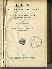 Giovanni Davicini # LEX LEGISLAZIONE ITALIANA # UTET 1930