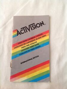 Activision Video Game Cartridge Catalog International Edition Booklet