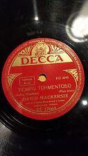 JAZZ 78 rpm RECORD Decca DAVID MACKERSIE Organ TIEMPO TORMENTOSO / CANCION DE...