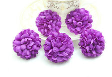 100pcs Wholesale Deep purple NEW Daisy Artificial Silk Flower Heads Wedding