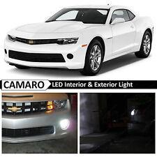 2014-2015 Chevy Camaro White Interior Exterior LED Lights Package Kit