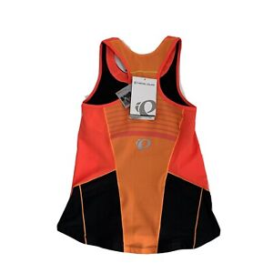 Pearl iZUMi Women's Large Elite Pursuit Tri Tank Friery Coral/Orange Built Bra