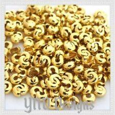 200 pcs 4mm Good QUALITY Gold PLATED CRIMP BEAD COVERS