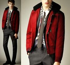 $1,995 Burberry Prorsum 46 56 Shearling Collar Down Winter Coat Jacket Men Gift
