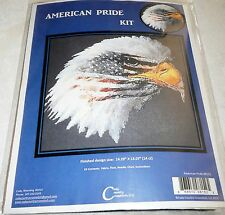 Cody Country Counted Cross Stitch Kit AMERICAN PRIDE - Eagle with Flag