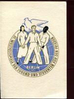 DDR Nr. 289 - 292 gest. Weltfestspiele auf Klappkarte