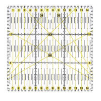 Acrylic Material Patchwork Quilting Ruler (5.91 inch x5.91 inch ,Yellow, tr I6S2