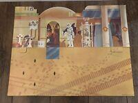 STAR WARS CANTINA ADVENTURE SET BACKDROP UNUSED KENNER VINTAGE 1978 BLUE SNAG C9