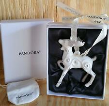PANDORA Limited Edition JARED 2017 REINDEER Porcelain CHRISTMAS ORNAMENT NEW