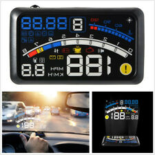 "5.5"" Car HUD Head-Up Display OBD2 Port Speedometer Projector Speed Warning Gauge"