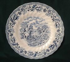 MYOTTS COUNTRY LIFE STAFFORDSHIRE WARE STARTER PLATE IRONSTONE SALAD PLATE BLUE