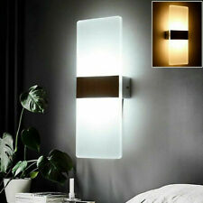 More details for modern 13w cob led wall light up down cube indoor bedroom sconce lamp fixture uk