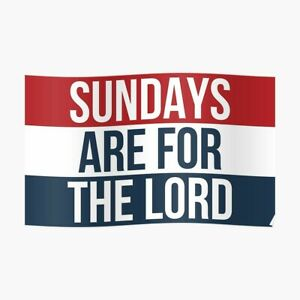 Sundays Are For The Lord Flag (3x5 ft) Banner