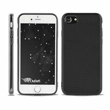 hülle für Apple iPhone 8 Silikon Case Back Cover Bumper Etui Carbon schwarz