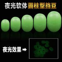 200pcs/set Glow Rubber Fishing Floating Bead Soft Green Luminous Terminal Tackle