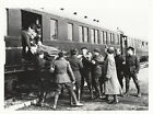 WORLD WAR ll ~ WOUNDED FRENCH SOLDIER BEING LIFTED FROM TRAIN - 1940
