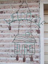 Welcome vintage wind chime with real bells